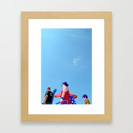 Super...on the beach Framed Art Print