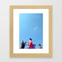 Super...on the beach Framed Art Print