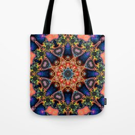 BBQSHOES: Kaleidoscopic Fractal Digital Art Design 1702K Tote Bag