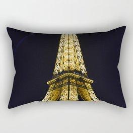 Golden Eiffel Tower Rectangular Pillow