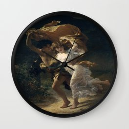 Pierre Auguste Cot's The Storm Wall Clock