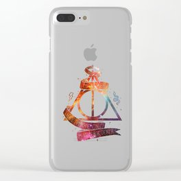 galaxy deadly hollow harrypotter Clear iPhone Case