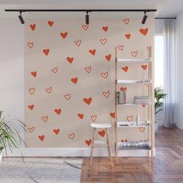 Dotty Hearts Wall Mural