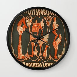 Vintage poster - The Brothers Lowell Wall Clock