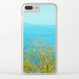 Deciduous beech forest view in spring, mountain landscape Clear iPhone Case