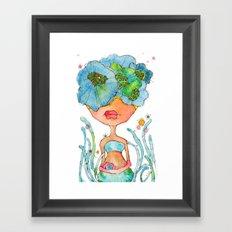blue girl -- she's a gentle one. Framed Art Print