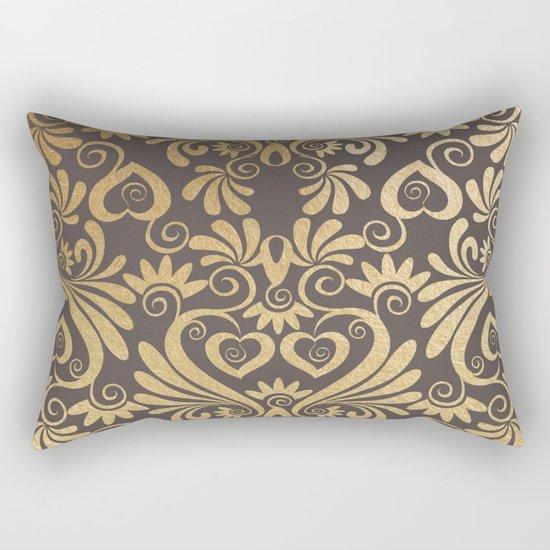 Gold swirls damask #5 Rectangular Pillow