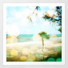 Golden Morning at the Beach Art Print
