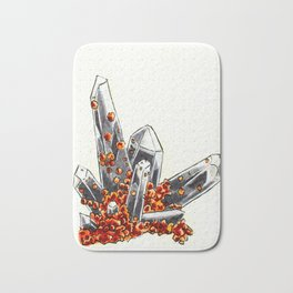 Smoky quartz and spessartine garnet Bath Mat