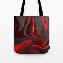 Red Flow Tote Bag