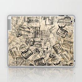 Passport Stamps Collage Print Laptop & iPad Skin