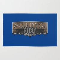 bioshock Area & Throw Rugs featuring Would You Kindly by adho1982