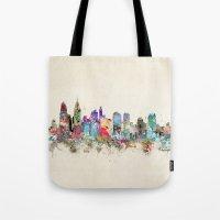 philadelphia Tote Bags featuring philadelphia pennsylvania by bri.buckley