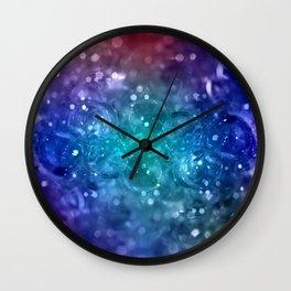 Bubbles in blue Wall Clock