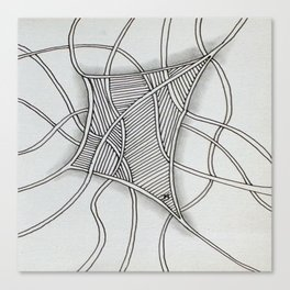 Tangled Net Canvas Print