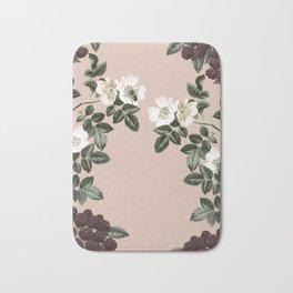 Bee Blackberry Bramble Coral Pink Bath Mat