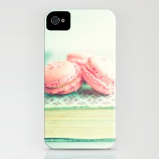 Pink Macaroons and Mint old book  iPhone (4, 4s) Slim Case