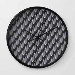 Just Grate Abstract Pattern With Heather Background Wall Clock