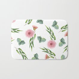 EUCALYPTUS LEAVES WATERCOLOR Bath Mat