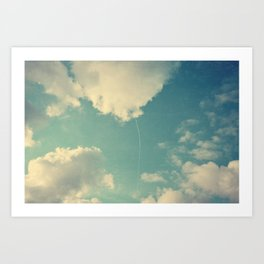 That Cloud Looks Like a Big White Balloon on a String Art Print