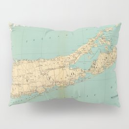 Vintage Map of Suffolk County NY (1895) Pillow Sham