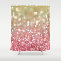 champagne Shower Curtains featuring Champagne Tango by Lisa Argyropoulos
