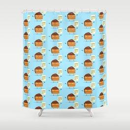 Trouble Baker Shower Curtain