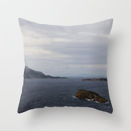 Poseidon's Seascape: Sounion, Greece. Throw Pillow