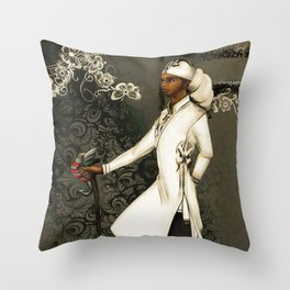 In His Headwrap Throw Pillow