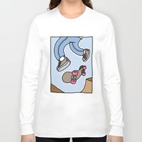 skate Long Sleeve T-shirts featuring skate by Méchant  Martin