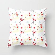 Sewing fun Throw Pillow