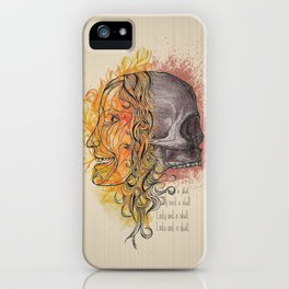 Lady and a skull iPhone Case