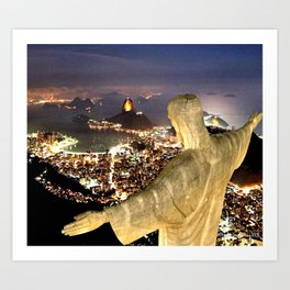 Christ the Redeemer ✝ Statue  Art Print
