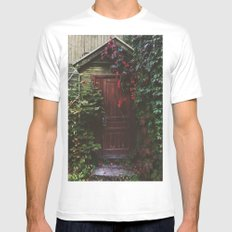 Secret Door MEDIUM White Mens Fitted Tee