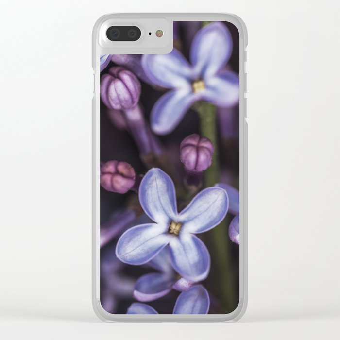 Lilacs close up Clear iPhone Case