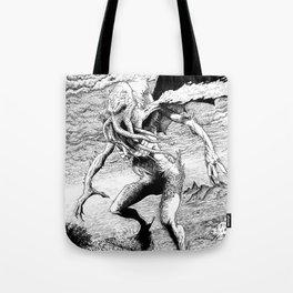 Cthulhu pen art Tote Bag