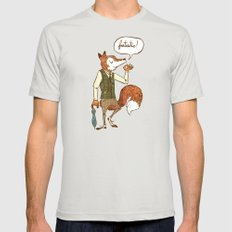 Mr. Fox Mens Fitted Tee Silver SMALL