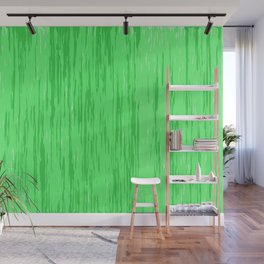Fresh green fibers, abstract rainfall, natural colors, forest theme texture, pattern Wall Mural