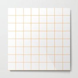 WINDOWPANE ((funky orange)) Metal Print