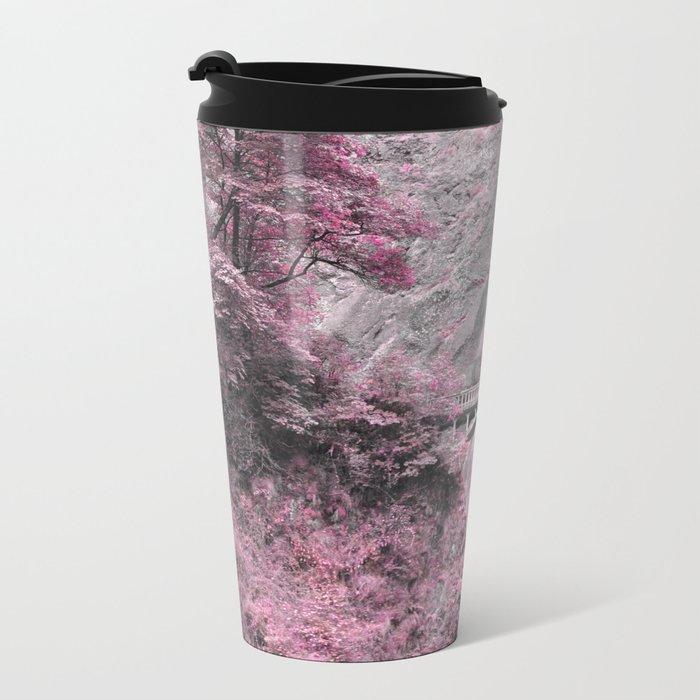 PRETTY IN PINK - MULTNOMAH FALLS Metal Travel Mug