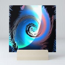 cyclone whirl hurricane rotate Mini Art Print