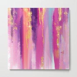 Watercolor strokes glitter Aquarelle coups de paillettes Aquarellstriche glitzern Brillo de trazos Metal Print