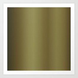 Gold Burnished Metallic Carbon Fiber Pattern Art Print