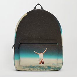 Falling with a hidden smile Backpack