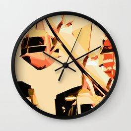 ferris wheel in the city at night Wall Clock