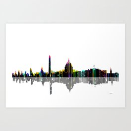 Washington DC Skyline BW 2 Art Print