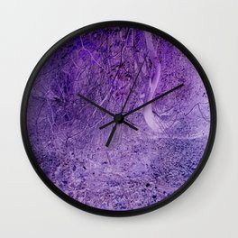 Season of the Land - Purple Storm Wall Clock
