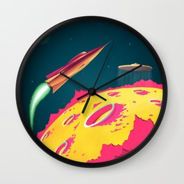 FLYING SAUCERS ATTACK Wall Clock