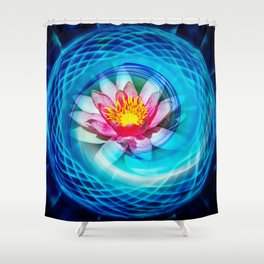Wellness Water Lily Shower Curtain