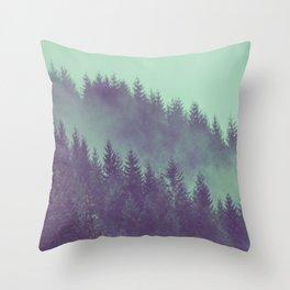 Adventure Awaits Forest Throw Pillow